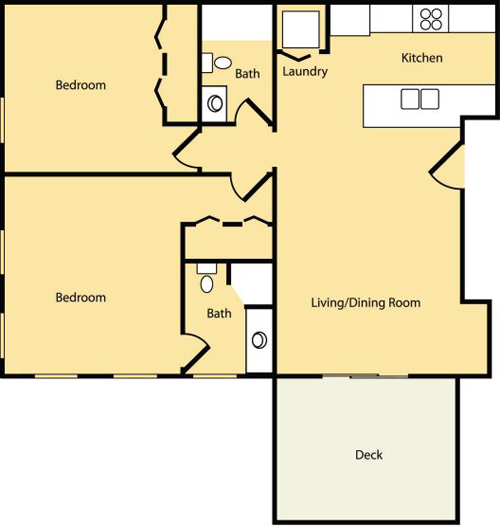 2 Bedroom (Approx 1015 sq ft)