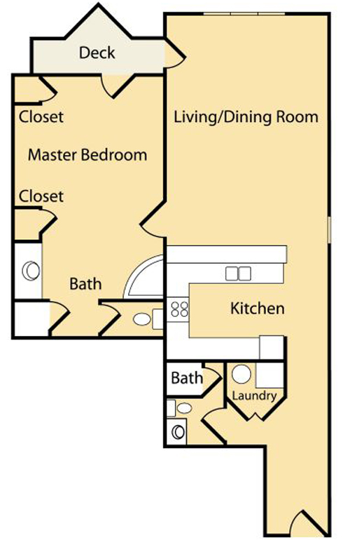 1 Bedroom B (Approx 949 sq ft)