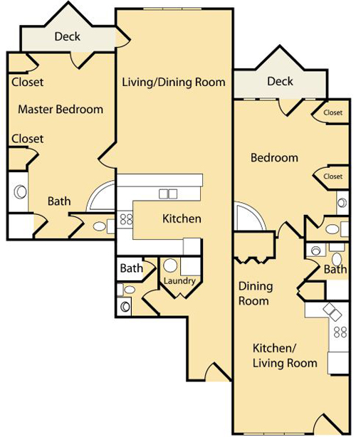 2 Bedroom BC (Approx 1568 sq ft)