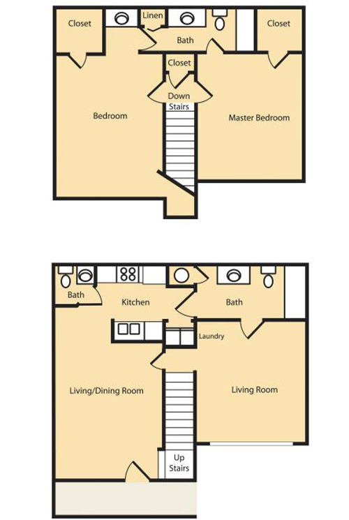 2 Bedroom (Approx 1229 sq ft)