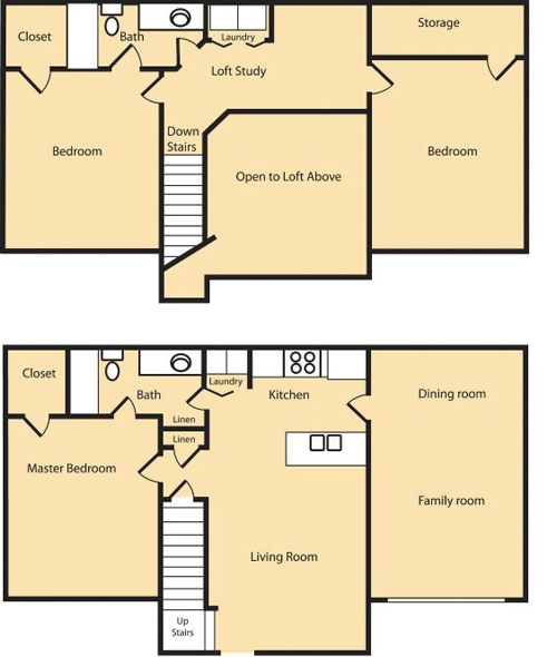 3 Bedroom (Approx 1459 sq ft)